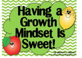 Growth Mindset Posters and Writing Activities (Fruit Theme)
