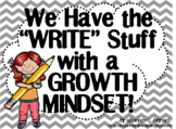 Growth Mindset Posters and Writing Activities (Kids and Pe