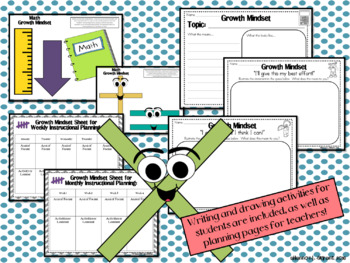 Math Growth Mindset Posters and Writing Activities