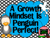 Growth Mindset Posters and Writing Activities (Penguin Win