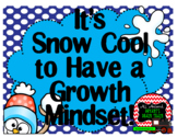 Growth Mindset Posters and Writing Activities (Snowman Win