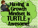 Growth Mindset Posters and Writing Activities (Turtle Theme)