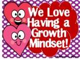 Growth Mindset Posters and Writing Activities (Valentine H