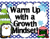 Growth Mindset Posters and Writing Activities (Winter Janu