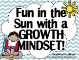 Growth Mindset Posters and Writing (Beach Chevron Theme)