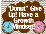 Growth Mindset Posters and Writing (Donut Theme)