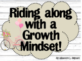 Growth Mindset Posters and Writing (French Country Shiplap Shabby Chic Bikes)