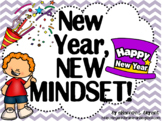 Growth Mindset Posters and Writing (New Year's Theme)