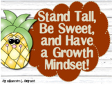 Growth Mindset Posters and Writing (Pineapples and Shiplap Shabby Chic)