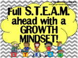 Growth Mindset Posters and Writing (STEAM Theme)