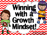 Growth Mindset Posters and Writing (Sports Theme Red)
