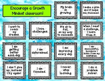 Growth Mindset Posters for Middle School and High School