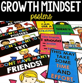 Growth Mindset Posters - Bulletin Board