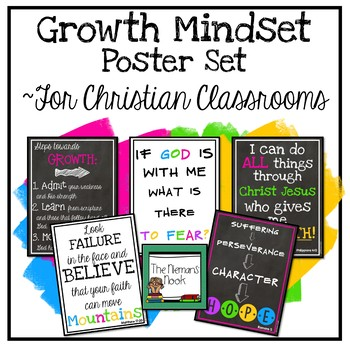 Growth Mindset Posters for the Christian Classroom