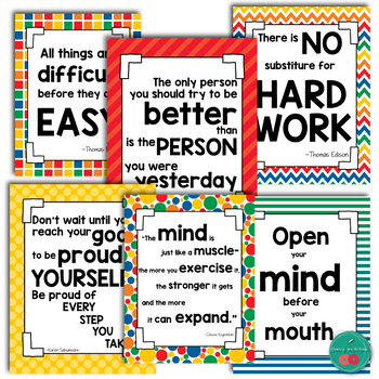 Growth Mindset Posters FREE