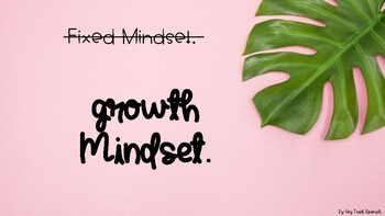 Growth Mindset Posters in English and SPANISH