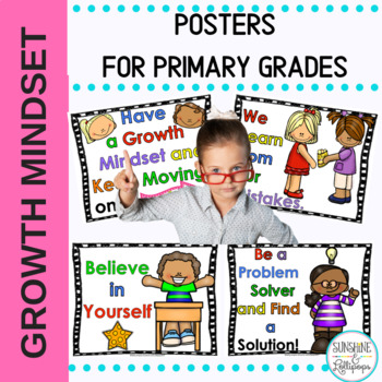 Growth Mindset Posters for Kindergarten and 1st Grade