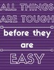 Growth Mindset Posters in Shades of Purple