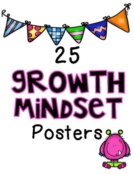 Growth Mindset Posters in WHITE