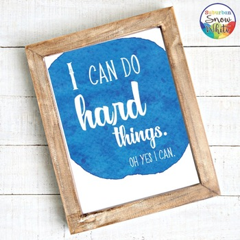 Growth Mindset Posters in Watercolor ~ Back to School Decor