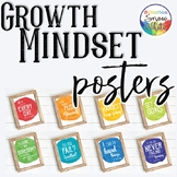 Growth Mindset Posters in Watercolor