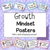 Growth Mindset Posters with LatinX (Hispanic) Heroes!