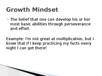 Growth Mindset Power Point