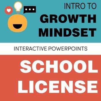 Growth Mindset PowerPoint SCHOOL LICENSE