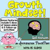 Growth Mindset PowerPoint (5 days of lessons!) | PDF and Digital |