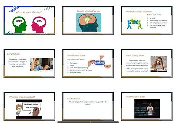 Growth Mindset Presentation &  Worksheets - Perfect for Beginning of School