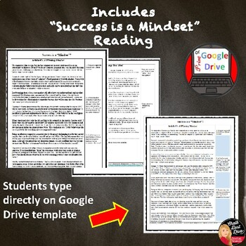 Growth Mindset Presentation and Reading Activity for Students Print and Digital