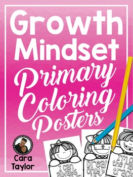 Growth Mindset Primary Coloring Posters