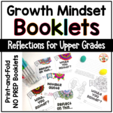 Growth Mindset Print-and-Go Reflection Booklets