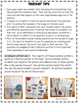 Growth Mindset Writing Activity: Print-and-Go Reflection Booklets