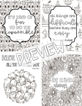 Growth Mindset Printable Coloring Pages