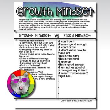 Growth Mindset Printable FREEBIE