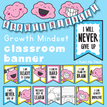 Growth Mindset Printable Pennant Garland / Bunting