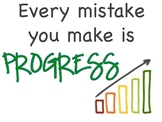 Growth Mindset Printable Poster Every Mistake is Progress