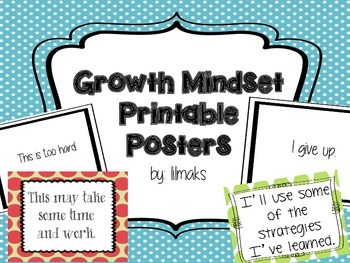Growth Mindset Printable Posters