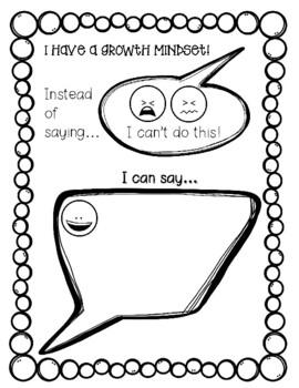 Growth Mindset Printables by Cuckoo 4 Kinder Teachers Pay Teachers