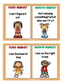 Growth Mindset vs Fixed Mindset Puzzle and Poster Cards
