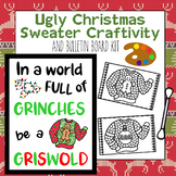 Growth Mindset Q-Tip Painting Craft & Display Kit - (Ugly Christmas Sweaters)