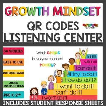 Growth Mindset QR Codes Listening Center Bundle