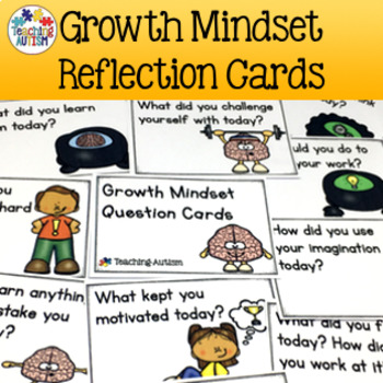Growth Mindset Question Reflection Cards