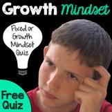 Growth Mindset Quiz - Freebie