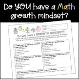 First Day of School Growth Mindset Quiz- Math [EDITABLE]