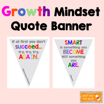 Growth Mindset Quote Banner