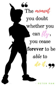 Growth Mindset Quote Poster - Peter Pan Pack (2 Sizes) by ...