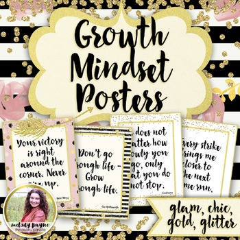 Growth Mindset Posters {36 Chic & Glam Signs}