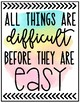 Growth Mindset Quote Posters: Rainbow Watercolor